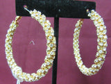 Earrings 8962 Golden CZ Loop Bali Earrings Pair Shieno