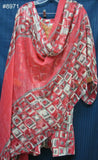 Suit 8971 Pink Printed Salwar Kameez Dupatta Medium 40 Size Suit