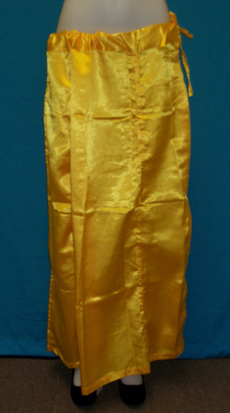 Petticoat 2629 Satin Golden Shieno Sarees San Francisco Bay Area