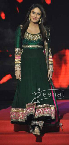 Anarkali Green Kareena Kapoor Replica