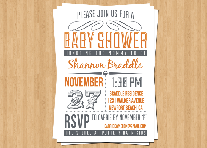 Bridal Shower Invitation Birthday or Event Invitation Fall – Event Invitation