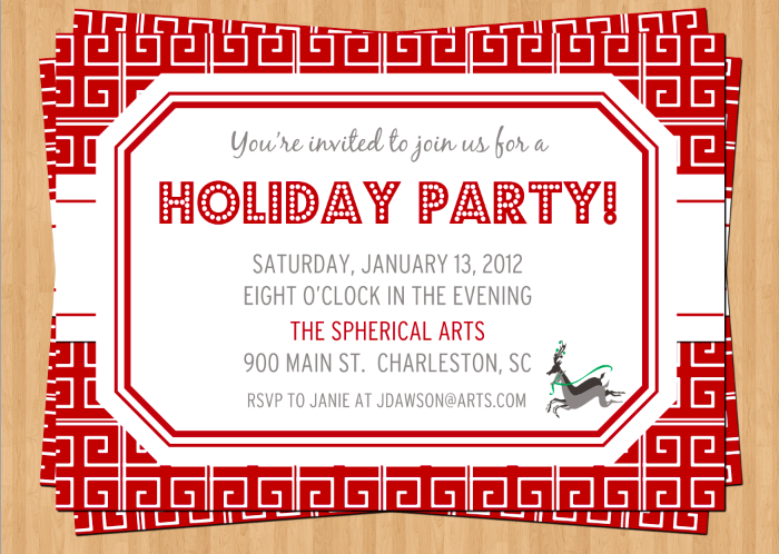 Holiday Party Invitation unitedarmyinfo – Business Holiday Party Invitations