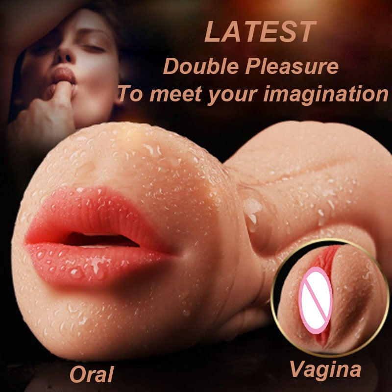 Realistic Oral 3D Deep Throat with Tongue Teeth Maiden Artificial Vagina Male Masturbator Realistic Pussy Oral Sex Toys for Men - specialsextoys.com