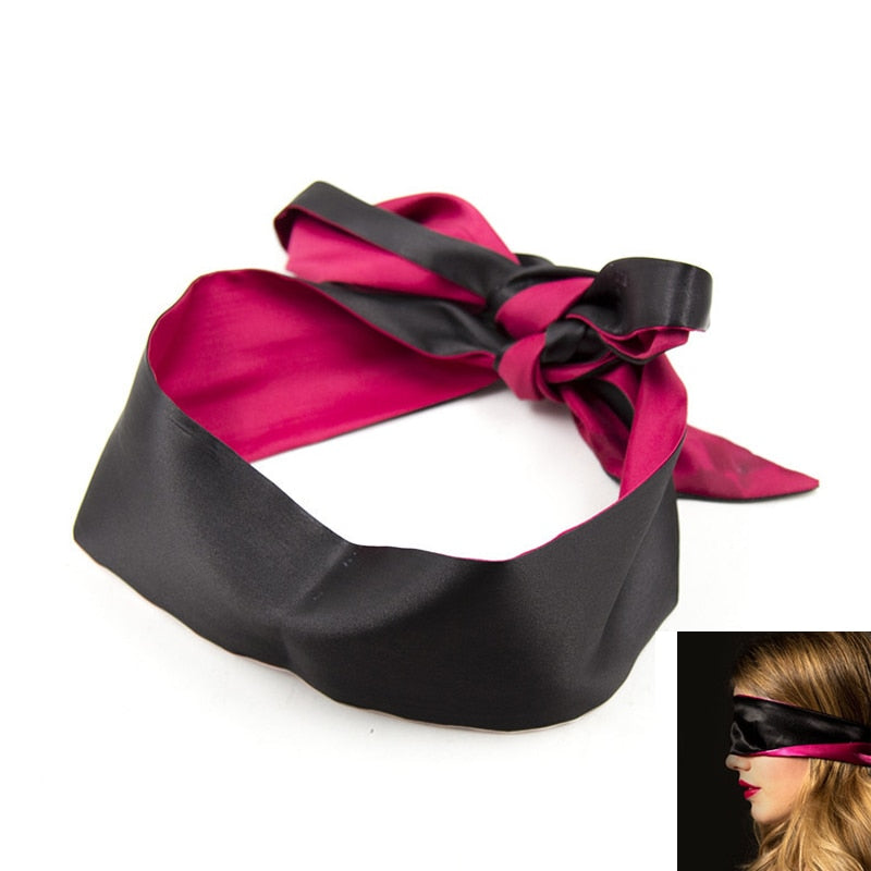 Sexy Lingerie Porn Masque For Sex Toys Sexy Satin Eye Mask Black Blindfolded Patch Fetish For Sex Game Erotic Costumes - specialsextoys.com