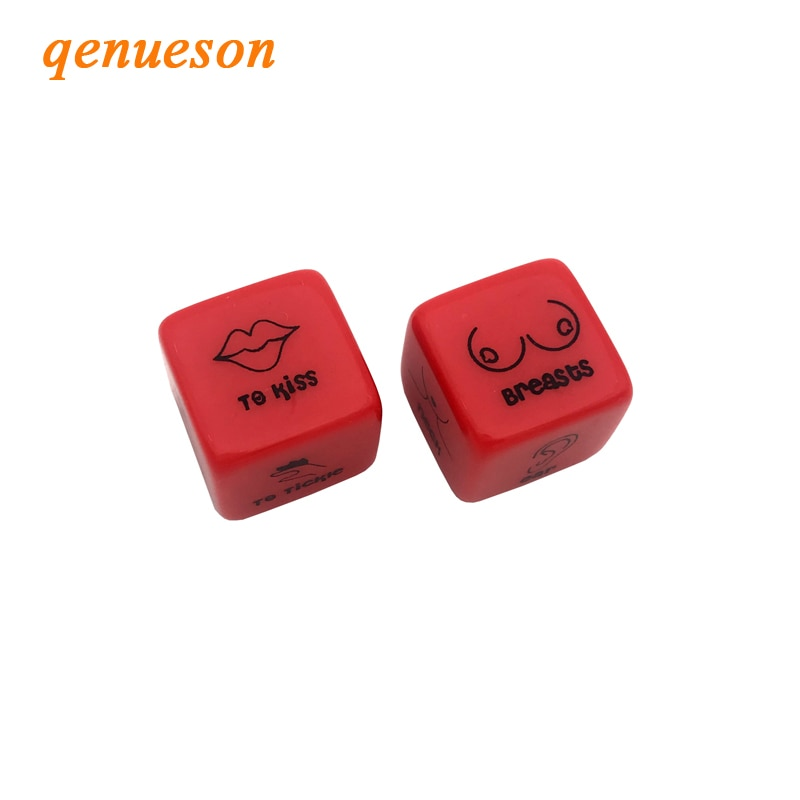 2Pcs Set Red Acrylic Dice Erotic Couples Adult Game - specialsextoys.com