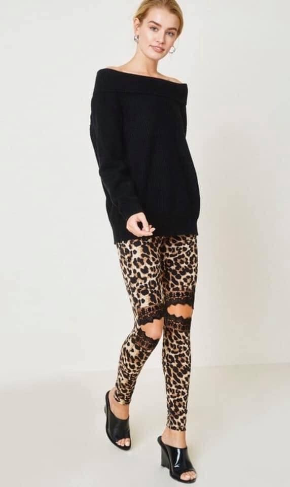 Leopard N Lace Leggings