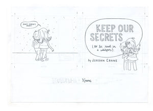 Cover lineart - Keep Our Secrets