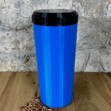 Two Litre Blue Container with Black Lid - Plastic Free Biodegradable