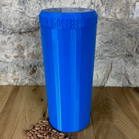 Two Litre Blue Container with Dark Blue Lid - Plastic Free Biodegradable