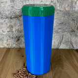 Two Litre Blue Container with Dark Green Lid - Plastic Free Biodegradable