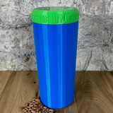Two Litre Blue Container with Light Green Lid - Plastic Free Biodegradable