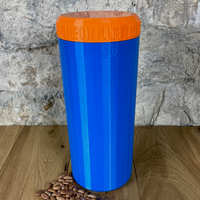 Two Litre Blue Container with Orange Lid - Plastic Free Biodegradable