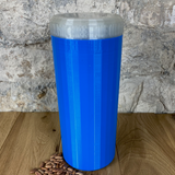 Two Litre Blue Container with Pearl Lid - Plastic Free Biodegradable