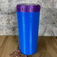 Two Litre Blue Container with Purple Lid - Plastic Free Biodegradable