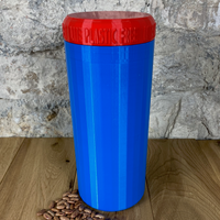 Two Litre Blue Container with Red Lid - Plastic Free Biodegradable
