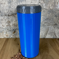 Two Litre Blue Container with Silver Lid - Plastic Free Biodegradable