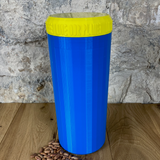 Two Litre Blue Container with Yellow Lid - Plastic Free Biodegradable