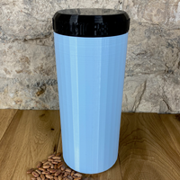 Two Litre Light Blue Container with Black Lid - Plastic Free Biodegradable