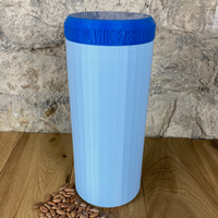 Two Litre Light Blue Container with Dark Blue Lid - Plastic Free Biodegradable