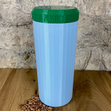 Two Litre Light Blue Container with Dark Green Lid - Plastic Free Biodegradable