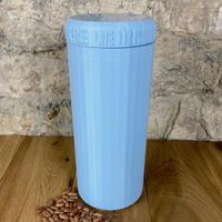 Two Litre Light Blue Container with Light Blue Lid - Plastic Free Biodegradable