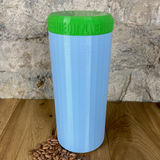 Two Litre Light Blue Container with Light Green Lid - Plastic Free Biodegradable