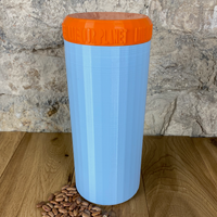 Two Litre Light Blue Container with Orange Lid - Plastic Free Biodegradable
