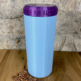 Two Litre Light Blue Container with Purple Lid - Plastic Free Biodegradable