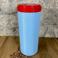 Two Litre Light Blue Container with Red Lid - Plastic Free Biodegradable