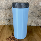 Two Litre Light Blue Container with Silver Lid - Plastic Free Biodegradable