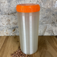 Two Litre Pearl Container with Orange Lid - Plastic Free Biodegradable