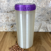 Two Litre Pearl Container with Purple Lid - Plastic Free Biodegradable