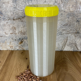Two Litre Pearl Container with Yellow Lid - Plastic Free Biodegradable