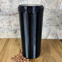 Two Litre Black Container with Black Lid - Plastic Free Biodegradable