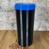 Two Litre Black Container with Dark Blue Lid - Plastic Free Biodegradable