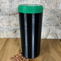 Two Litre Black Container with Dark Green Lid - Plastic Free Biodegradable