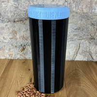 Two Litre Black Container with Pale Blue Lid - Plastic Free Biodegradable