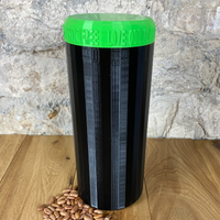 Two Litre Black Container with Light Green Lid - Plastic Free Biodegradable