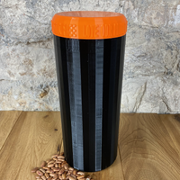 Two Litre Black Container with Orange Lid - Plastic Free Biodegradable