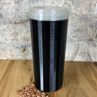 Two Litre Black Container with Pearl Lid - Plastic Free Biodegradable