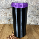 Two Litre Black Container with Purple Lid - Plastic Free Biodegradable