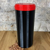 Two Litre Black Container with Red Lid - Plastic Free Biodegradable