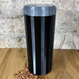 Two Litre Black Container with Silver Grey Lid - Plastic Free Biodegradable