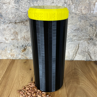 Two Litre Black Container with Yellow Lid - Plastic Free Biodegradable