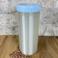 Two Litre Pearl Container with Light Blue Lid - Plastic Free Biodegradable