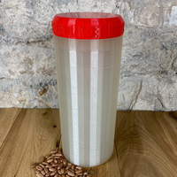 Two Litre Pearl Container with Red Lid - Plastic Free Biodegradable