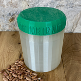 One Litre Pearl Container with Dark Green Lid - Plastic Free Biodegradable