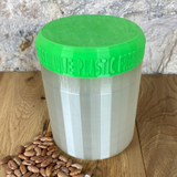 One Litre Pearl Container with Light Green Lid - Plastic Free Biodegradable