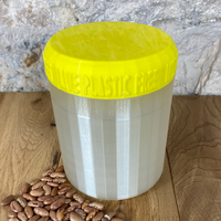 One Litre Pearl Container with Yellow Lid - Plastic Free Biodegradable