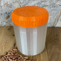 One Litre Pearl Container with Orange Lid - Plastic Free Biodegradable
